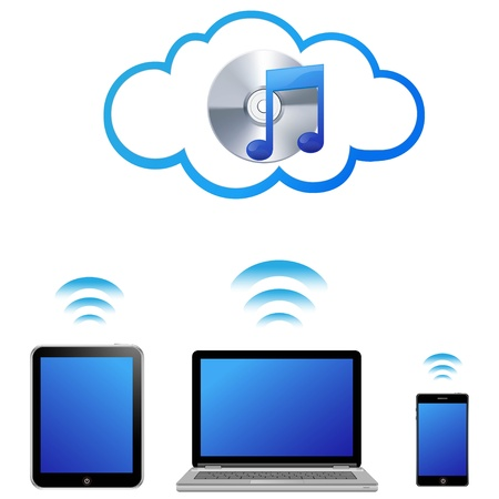 cloud music concept  Vector