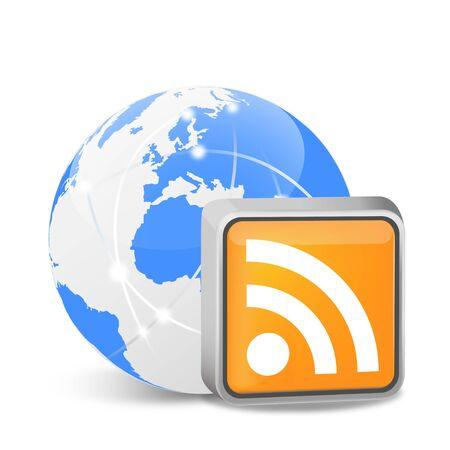 subscribe: RSS symbol  Illustration