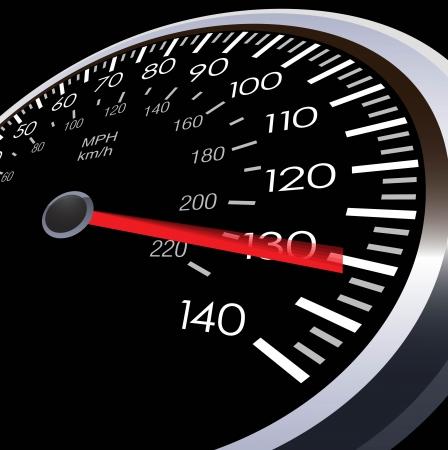 Coche metros velocidad Ilustración de vector