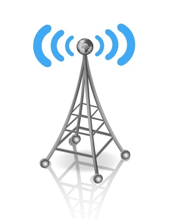 Illustration of a transmission tower Vector