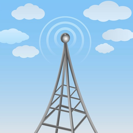 wireless tower: Illustration of a transmission tower
