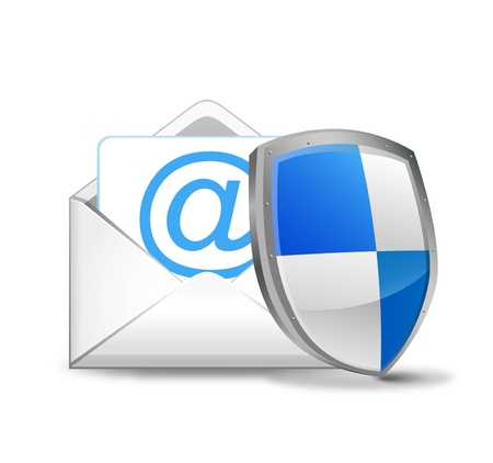 Illustration of an envelope and a shield
