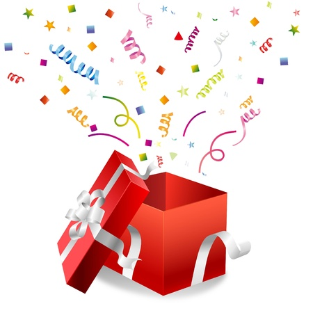 Illustration of an open gift box