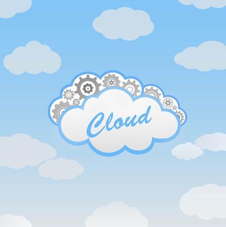 抽象的な雲  イラスト・ベクター素材