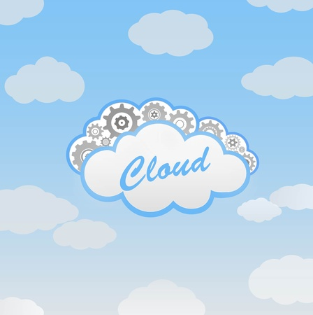 Abstract cloud Stock Vector - 12270245