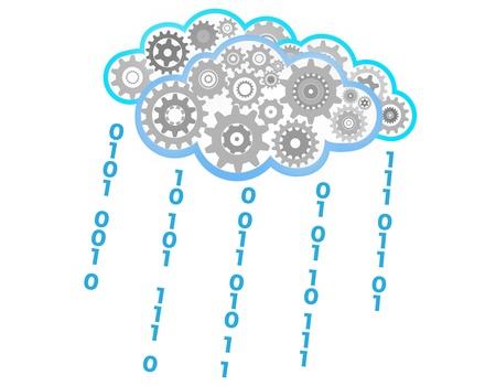 gear symbol: Raining concept
