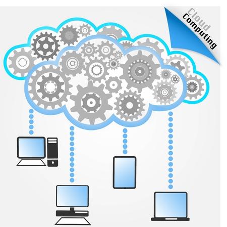 コンピュータ ネットワーク  イラスト・ベクター素材