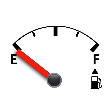 empty tank: Fuel sign