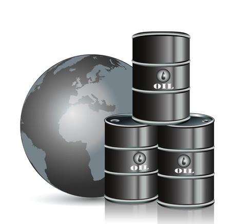 oliedrum: Benzine Stock Illustratie
