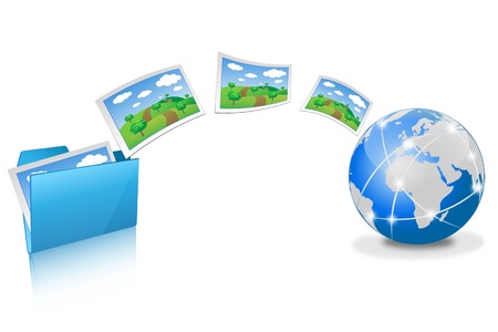 file transfer  Vector