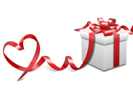 valentine background: present