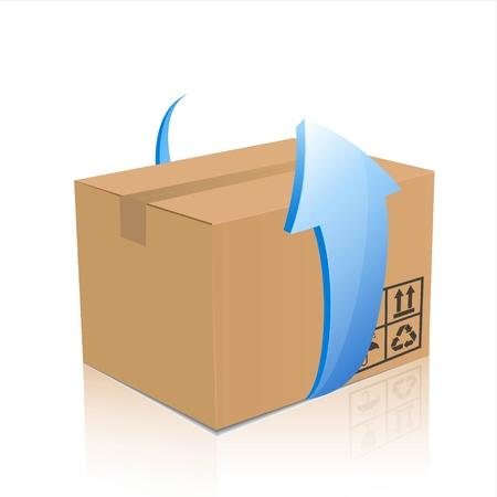 air shipping: box