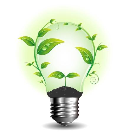 eco energy: light bulb Illustration