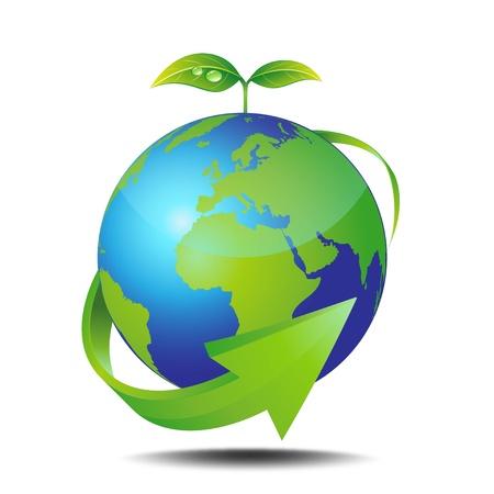 エコロジー  イラスト・ベクター素材