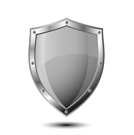 badge shield: shield illustration for protection Illustration