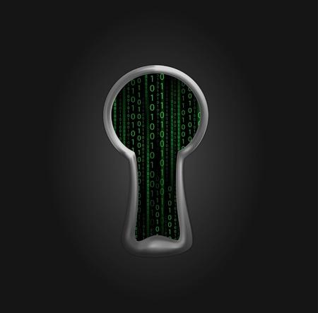 cyber attack: keyhole Illustration