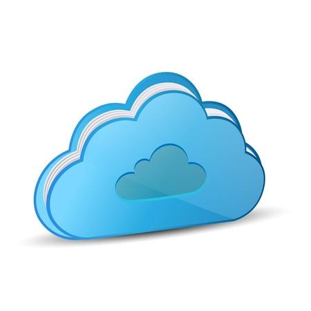 Cloud vector Vector