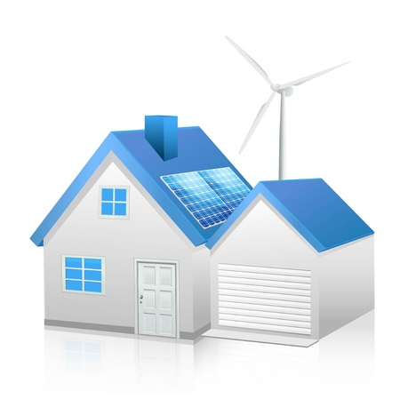 solar panel roof: EPS 10 Illustration
