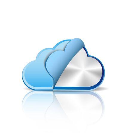Metallic cloud computing Vector