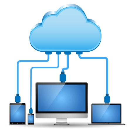 tablet: Electronic device connected to cloud computing