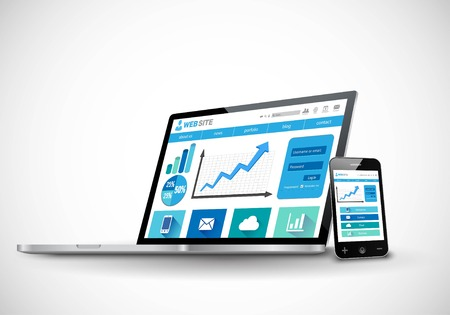 responsive design: Business responsive web design concept
