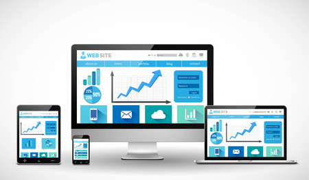 responsive design: Business responsive web design concept