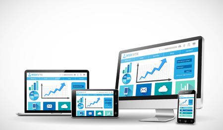 Zakelijke responsieve web design concept