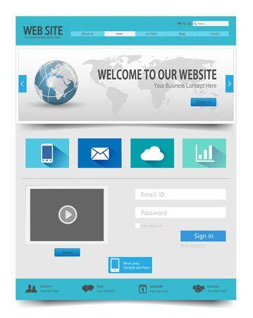 Website template Иллюстрация
