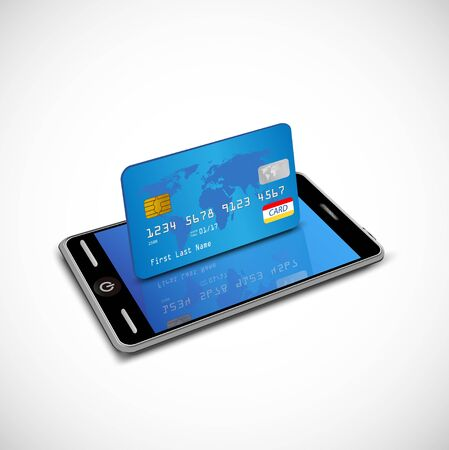 smartphone: Smartphone with credit card