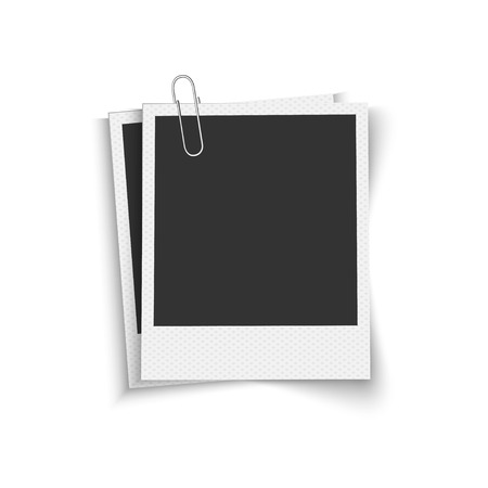 paper  clip: Blank photo frames with clip