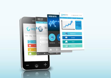 Smartphone web design concept