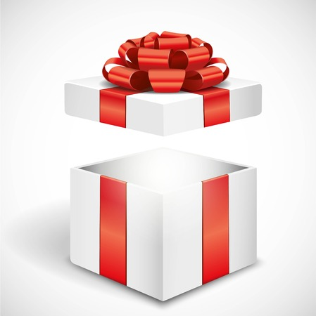 red gift box: Open gift box