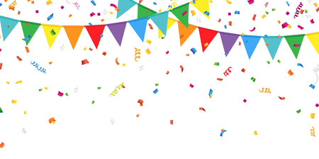 party background: Party Flags and Confetti