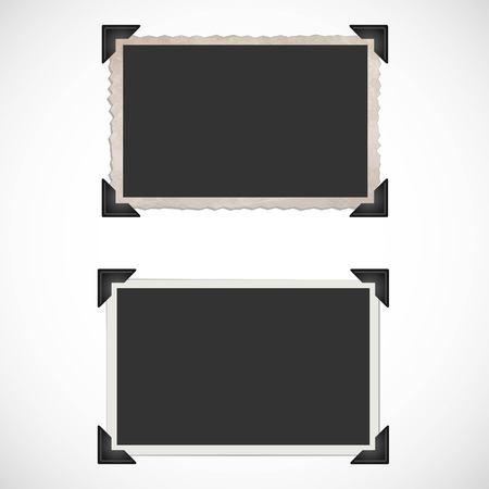 Blank Old Bilderrahmen und Ecken Standard-Bild - 45630903
