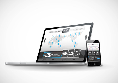 laptop: Responsive Web Design Illustration