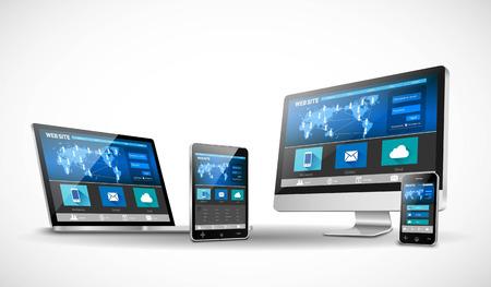 Vector moderno web design in sito reattivo