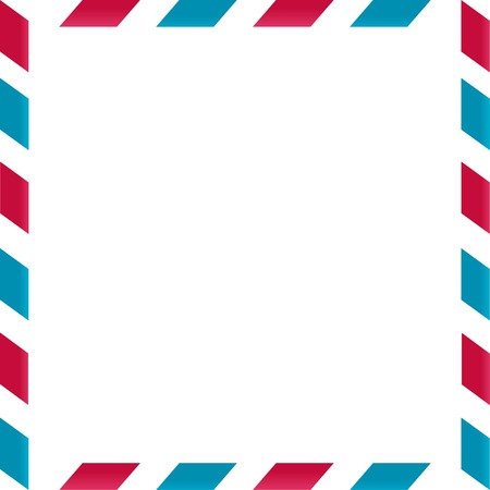 Air mail frame on white background