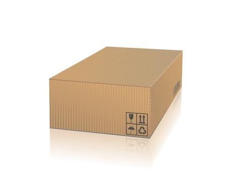 Cardboard Box isolated on a white background Standard-Bild - 46963766