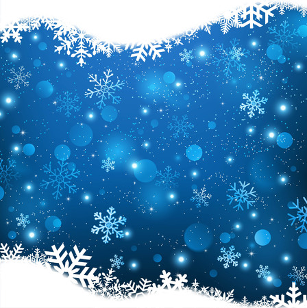 Christmas with crystal snow background Vettoriali