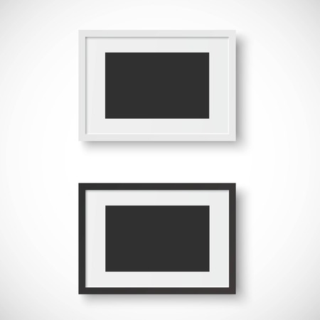black picture frame: Picture frames on white background