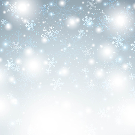 Christmas background with snowflakes Ilustrace