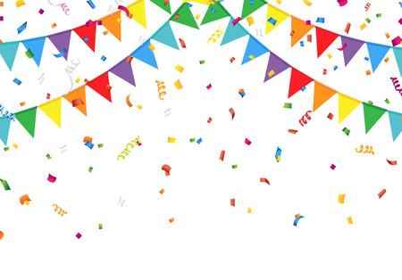 vlaggen partij met confetti