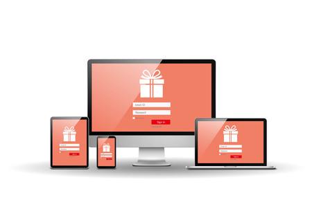 site: Online shopping site Illustration