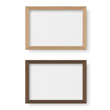 Vector wooden picture frame