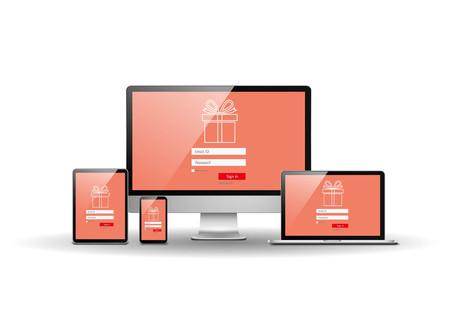 site: Internet shopping site Illustration