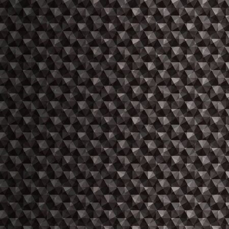 black: Black polygonal mosaic background Illustration