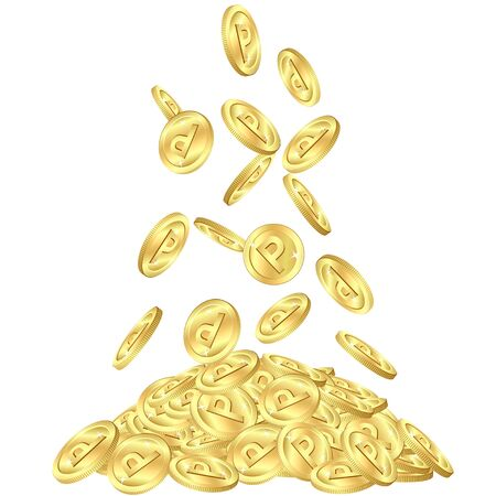 Gold point coins Vector Illustration