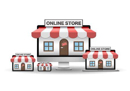 Online store Ilustracja