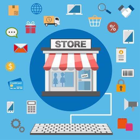 Diseño plano tienda online