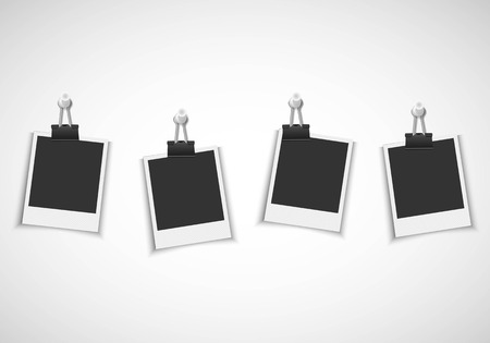 blank photo: Blank photo frames with clip and pushpin